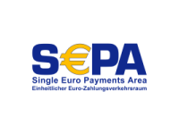 Das SEPA_Logo. Use of the SEPA mark is under licence from the European Payments Council